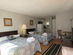 Ocean Side Room with Two Double Beds and a Kitchenette